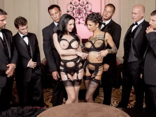 The Secret Soiree: Six-Man Gangbang double penetration anal xxxvideo
