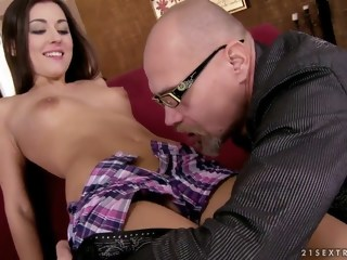 old and young brunette blowjob czech