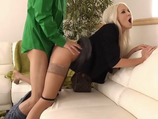 Holly gets fucked in clothes blond facial xxxvideo