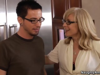 Nina catches her son's friend hardcore blond xxxvideo