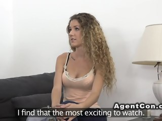 Curly amateur sucks in casting straight hd xxxvideo