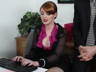 Marie is working hard on a report big cock milf xxxvideo