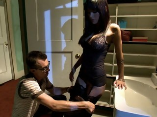 Submissive husband watching his wife getting fucked femdom brunette xxxvideo