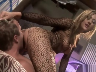 Horny dude has a striking girl banging his ass with a strap-on dildo   xxxvideo