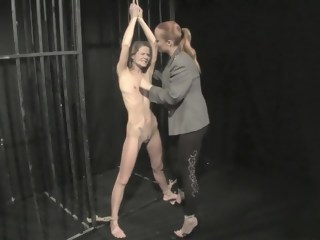 Brunette slave is tortured and humiliated into submission by her mistress   xxxvideo
