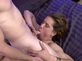 Insatiable milf with big boobs Miss Trixie gets fucked by a young stud  milf xxxvideo