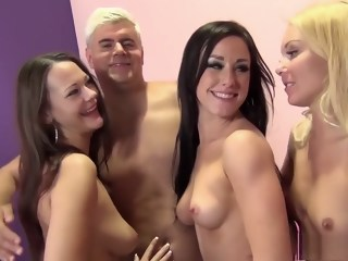 Attractive babes Aaliyah, Jennifer and Sandra go wild for a big dick   xxxvideo