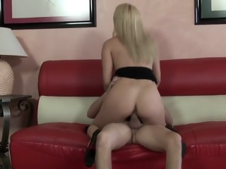 Blonde babe Cody rides a massive cock like there's no tomorrow   xxxvideo