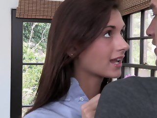 18yo cute Presley is too horny today blowjob uniform xxxvideo