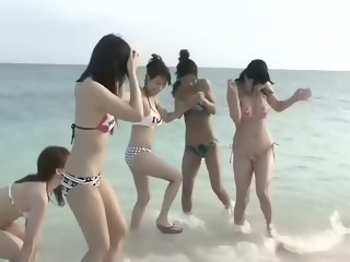 Six Beautiful Japanese Girls Beach Orgy (Uncensored) creampie japanese xxxvideo