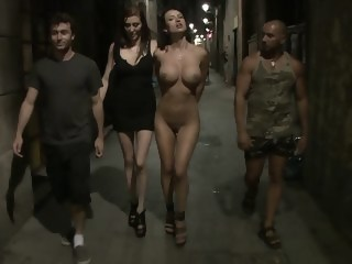 Franceska is Publicly Caned brunette big tits xxxvideo
