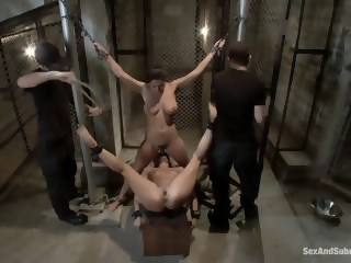 Bondage, humiliation and hardcore bdsm brunette xxxvideo