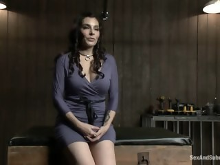 Submissive Annika brunette big tits xxxvideo