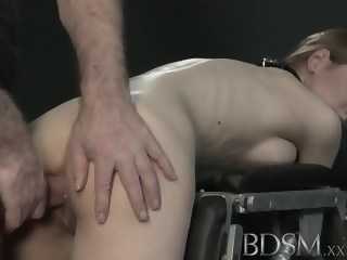 BDSM XXX Big breasted sub gets hard anal fetish bdsm xxxvideo