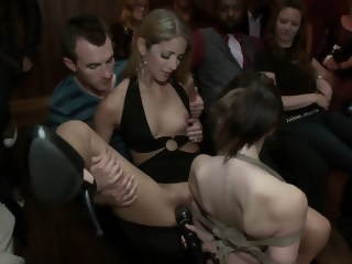 Young Sensi Pearl gets tied up and fucked in public bdsm brunette xxxvideo
