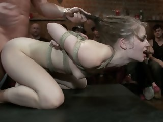 Sensi Pearl gets fucked hard in public public bdsm xxxvideo