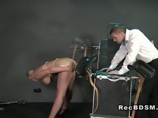 Huge tittied sub gets cunt vibed in bdsm fetish big tits xxxvideo