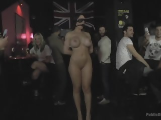 Big Tit Spanish Supermodel Bound & Dragged Through Madrid City Center public bdsm xxxvideo