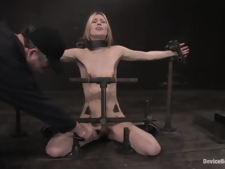 Calico Impaled on an electrified dildo and made to orgasm.  straight xxxvideo