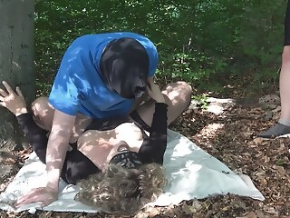 Jessica gets multiple creampies from 3 guys in the woods multiple gets xxxvideo