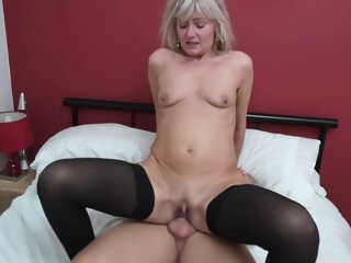 British blonde woman, Ellen is cheating on her husband, just because she likes to fuck men woman blonde xxxvideo