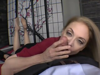 Nina Hartley nylon feet footjob and blowjob nylon hartley xxxvideo