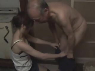 Saki tsuji taking care of old man taking tsuji xxxvideo