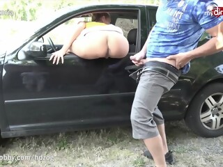 MyDirtyHobby - Tight MILF babe caught masturbating outdoors by hiker milf tight xxxvideo