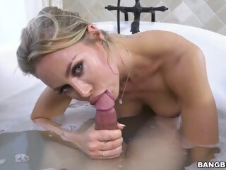 Big titted blonde woman, Nicole and her new lover are fucking in the bathroom, all day long woman blonde xxxvideo
