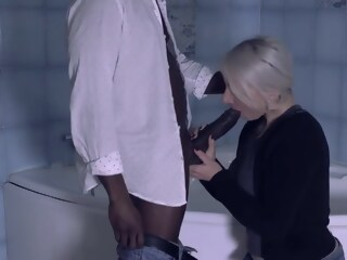 Mature blonde slut is eagerly fucking a handosme, black guy and enjoying it a lot slut blonde xxxvideo