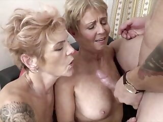 Two sexy slim old women cumshot blowjob xxxvideo