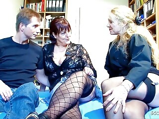 German Mature Seduced Real old Couple to Threesome Casting mature hardcore xxxvideo