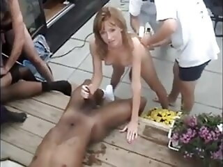 Blacks bang blonde wife cumshot blowjob xxxvideo