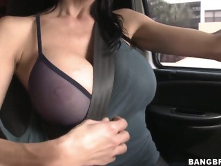Car fun with a really busty mama and her boy big ass big tits xxxvideo