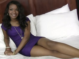 A blazing hot 18 year old ebony interracial blowjob xxxvideo