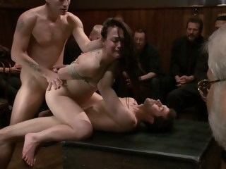 Gangbanged in Public group sex double penetration xxxvideo