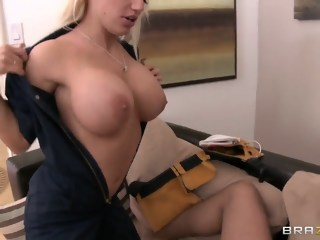 Horny blonde Keiran Lee fuck with cableman, she wait too long for his cock uniform big tits xxxvideo
