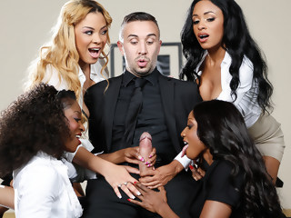 Office 4-Play VII: Ebony Babes gangbang ebony xxxvideo