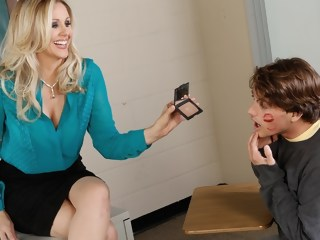 Julia Ann & Tyler Nixon in My First Sex Teacher blond facial xxxvideo