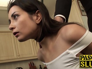 Brunette slut needs to be taught her place before anal brunette bdsm xxxvideo