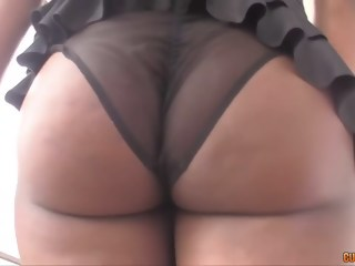 Black babe vs two cocks double penetration blowjob xxxvideo