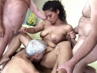 Incredible pornstar in horny mature, gangbang xxx video gangbang group sex xxxvideo