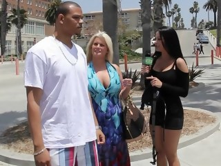big tits brunette public hd
