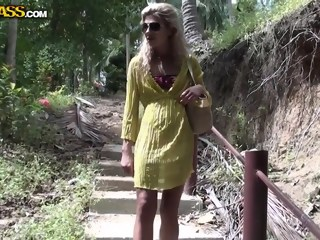 Cute blonde Tiffany picked up for hard fuck hardcore outdoor xxxvideo