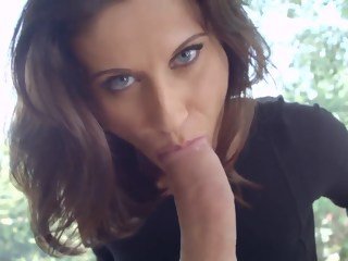 Beautiful glamour girl Madlin Moon expanded her asshole with glass dildo and now sucking her fucker's cock. blowjob anal xxxvideo