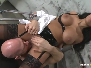 anal uniform point of view brunette