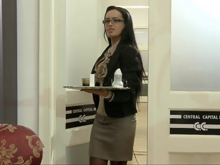 Secretary hardcore brunette xxxvideo