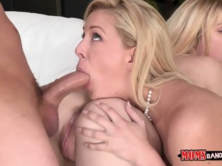 Lucy and her mom tag team sex milf blond xxxvideo