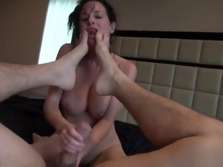 Busty brunette milf enjoys every thrust of cock up her juicy anal hole milf brunette xxxvideo