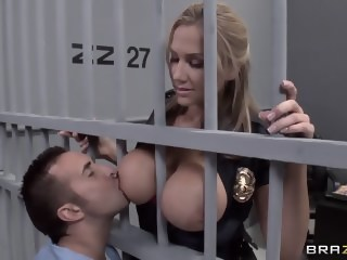 Alanah Rae horny as fuck from this muscular prisoner blowjob uniform xxxvideo
